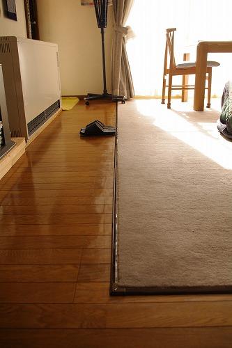 リビングの絨毯